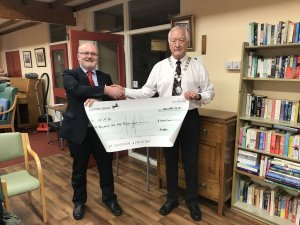 Mayor's Charity cheque presentation to Northamptonshire Association for the Blind