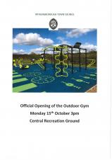 Official Opening of Outdoor Gym