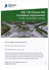 A45/A6 Chowns Mill Public Infromation Events