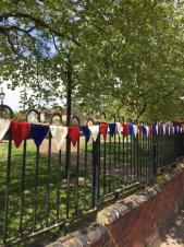 Parsons Green VE Day Bunting