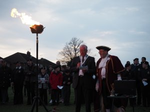 The Queen's 90th Birthday - Crow Hill Beacon Lighting Ceremony